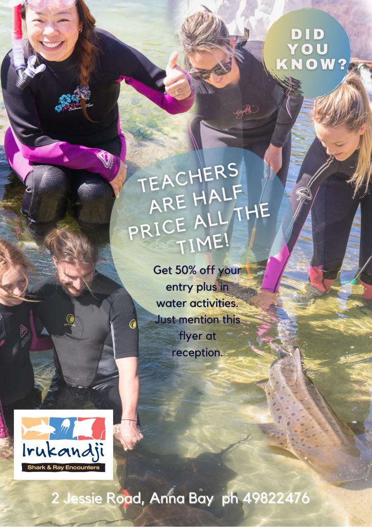 Half price teachers