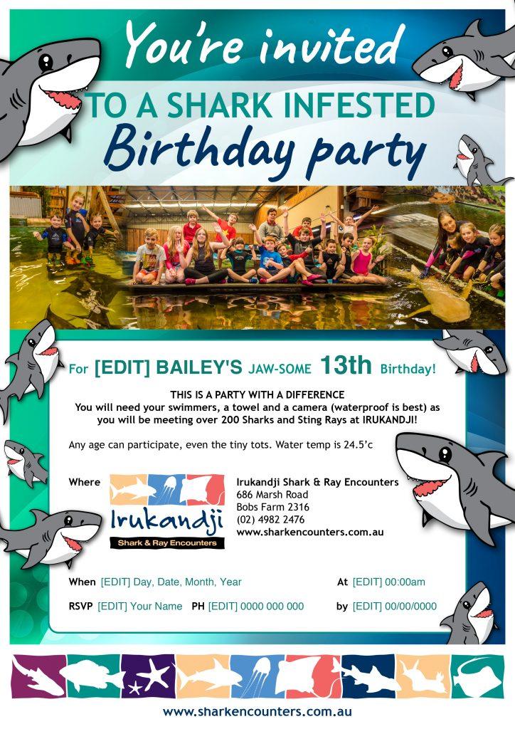 Customise your own Irukandji Party Invitation