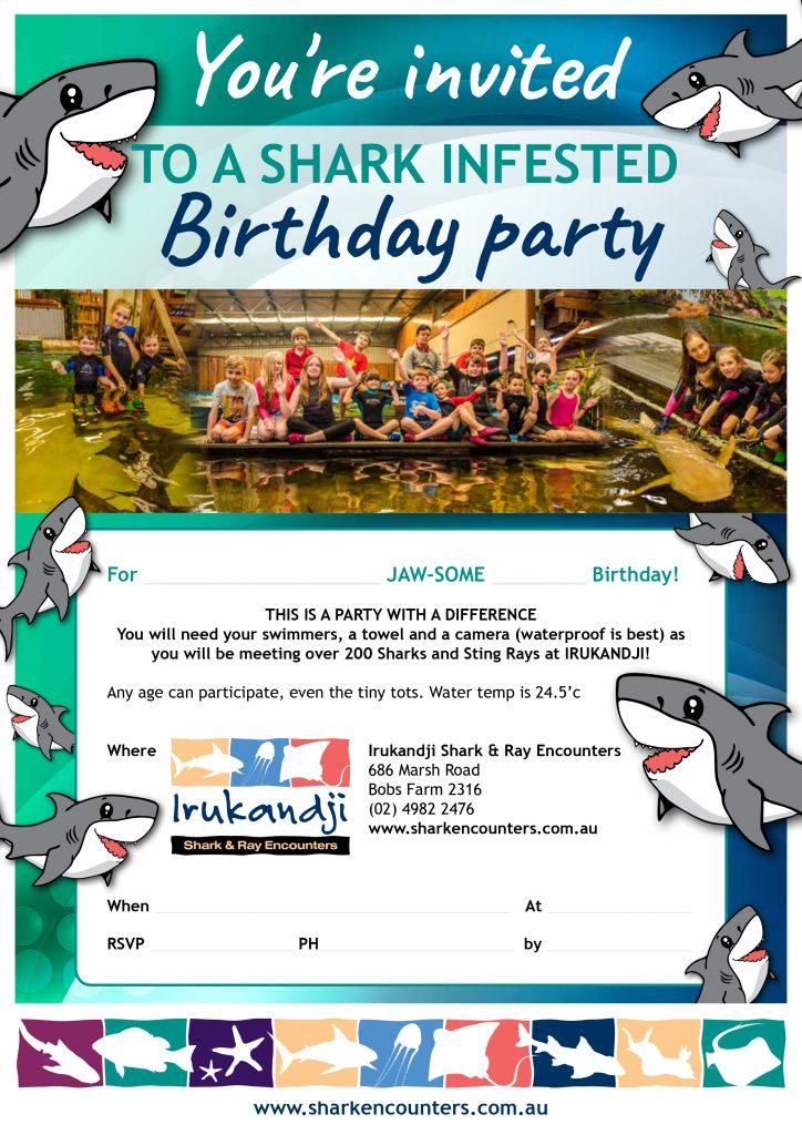 Printable Irukandji Party Invitation